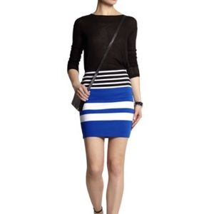 ▫️T ALEXANDER WANG Stripe Straight Skirt▫️